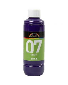 A-Color Glas, rödviolett, 250 ml/ 1 flaska