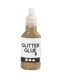 Glitterlim, guld, 25 ml/ 1 flaska