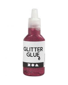 Glitterlim, rosa, 25 ml/ 1 flaska