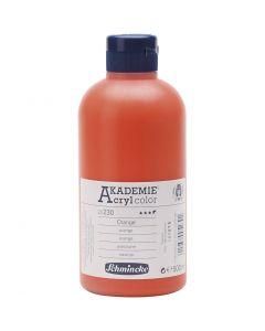 Schmincke AKADEMIE® Acryl color , semi transparent, orange (230), 500 ml/ 1 flaska