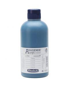 Schmincke AKADEMIE® Acryl color , semi transparent, turquoise (450), 500 ml/ 1 flaska