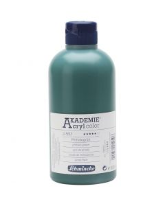 Schmincke AKADEMIE® Acryl color , transparent, phthalo green (551), 500 ml/ 1 flaska