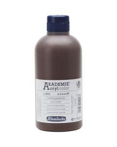 Schmincke AKADEMIE® Acryl color , täckande, burnt umber (669), 500 ml/ 1 flaska