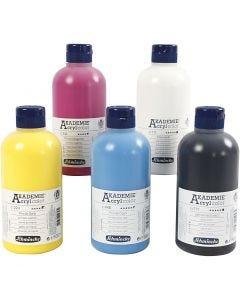 Schmincke AKADEMIE® Acryl color , 5x500 ml/ 1 förp.