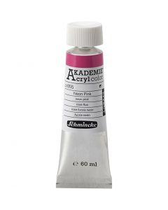 Schmincke AKADEMIE® Acryl color , neon pink (855), 60 ml/ 1 flaska