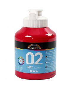 Skolfärg, akryl, matt, matt, primärröd, 500 ml/ 1 flaska