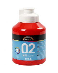 Skolfärg, akryl, matt, matt, röd, 500 ml/ 1 flaska