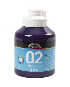 Skolfärg, akryl, matt, matt, violet, 500 ml/ 1 flaska