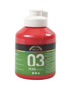 Skolfärg akryl, metallic, metallic, röd, 500 ml/ 1 flaska