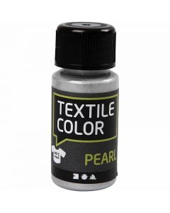 Textile Color, pärlemor, silver, 50 ml/ 1 flaska