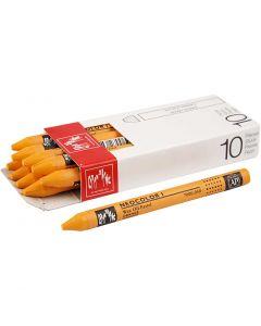 Neocolor I, L: 10 cm, tjocklek 8 mm, orange (030), 10 st./ 1 förp.