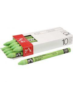 Neocolor I, L: 10 cm, tjocklek 8 mm, yellow green (230), 10 st./ 1 förp.