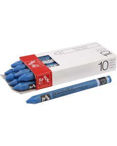 Neocolor II akvarellkritor, L: 10 cm, cobalt blue (160), 10 st./ 1 förp.