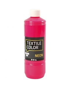 Textile Color textilfärg, neonrosa, 500 ml/ 1 flaska