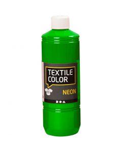 Textile Color textilfärg, neongrön, 500 ml/ 1 flaska