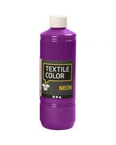 Textile Color textilfärg, neonlila, 500 ml/ 1 flaska
