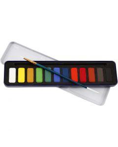 Akvarellset, stl. 12x30 mm, 12 färg/ 1 förp.