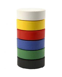 Vattenfärg, H: 19 mm, Dia. 57 mm, primärfärger, 6 st./ 1 förp.