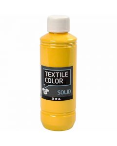 Textile Solid textilfärg, täckande, gul, 250 ml/ 1 flaska