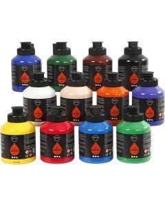 Pigment Art School, standardfärger, 12x500 ml/ 1 låda