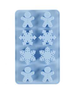 Silikonform, Hålstl. 30x45 mm, 12,5 ml, ljusblå, 1 st./ 1 förp.