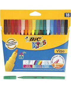 Visa Fin tusch, spets 1,6 mm, mixade färger, 18 st./ 1 förp.