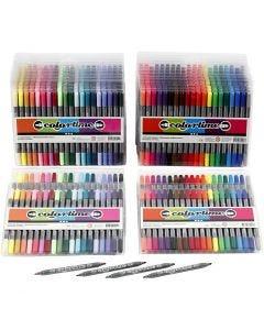 Colortime dubbeltusch, spets 2,3+3,6 mm, standardfärger, kompletterande färger, 24 förp./ 1 förp.