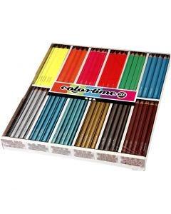Colortime färgpennor, L: 17,45 cm, kärna 4 mm, 144 st./ 1 förp.