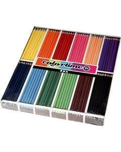 Colortime färgblyerts, L: 17,45 cm, kärna 3 mm, mixade färger, 12x12 st./ 1 förp.