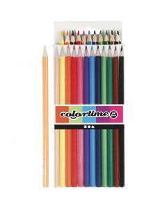 Colortime färgblyerts, L: 17,45 cm, kärna 3 mm, mixade färger, 12 st./ 1 förp.