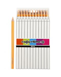 Colortime färgpennor, L: 17,45 cm, kärna 5 mm, JUMBO, ivory, 12 st./ 1 förp.