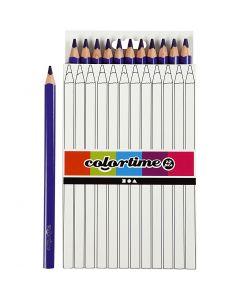 Colortime färgpennor, L: 17,45 cm, kärna 5 mm, JUMBO, lila, 12 st./ 1 förp.