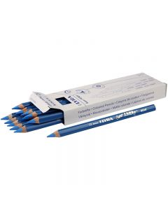 Lyra Super Ferby 1 färgpennor, L: 18 cm, kärna 6,25 mm, blå, 12 st./ 1 förp.
