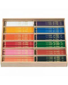 Lyra Super Ferby 1 färgpennor, L: 18 cm, kärna 6,25 mm, mixade färger, 12x12 st./ 1 förp.