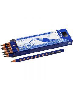 Lyra Groove Graphite blyertspennor, Dia. 10 mm, hårdhet B, kärna 4,25 mm, 12 st./ 1 förp.