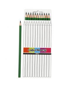 Colortime färgblyerts, L: 17 cm, kärna 3 mm, grön, 12 st./ 1 förp.