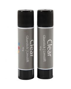 Clear limstift, Rund, 2 st./ 1 förp.