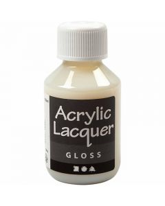 Akryllack, blank, 100 ml/ 1 flaska