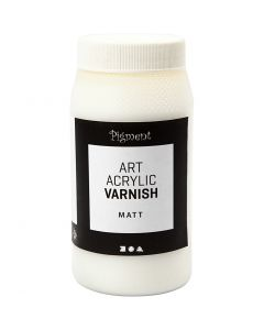 Art Acrylic slutfernissa, matt, matt transparenta, vit, 500 ml/ 1 burk