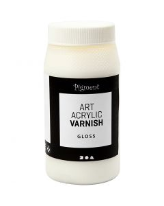 Art Acrylic slutfernissa, matt, Blank transparent, vit, 500 ml/ 1 burk