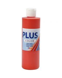 Plus Color hobbyfärg, brilliant red, 250 ml/ 1 flaska