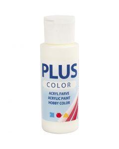 Plus Color hobbyfärg, råvit, 60 ml/ 1 flaska