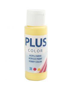 Plus Color hobbyfärg, primrose yellow, 60 ml/ 1 flaska