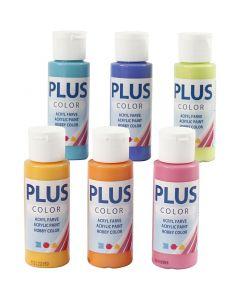 Plus Color hobbyfärg, colorful, 6x60 ml/ 1 förp.
