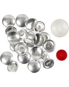 Klä-på-knapp, Dia. 22 mm, 12 st./ 1 förp.