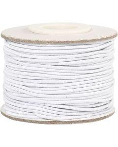 Elastiskt snöre, tjocklek 1 mm, vit, 25 m/ 1 rl.