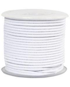 Elastiskt snöre, tjocklek 2 mm, vit, 25 m/ 1 rl.