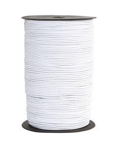 Elastiskt snöre, tjocklek 2 mm, vit, 250 m/ 1 rl.