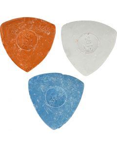 Skräddarkrita, Dia. 5,5 cm, blå, röd, vit, 3 st./ 1 förp.