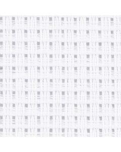 Aida broderiväv, stl. 50x50 cm, 24 rutor per 10 cm, vit, 1 st.